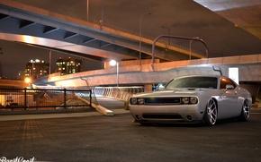 Picture Dodge, Challenger, bridge, Night, R/T