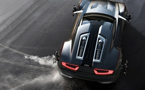 Picture Concept, black, color, Ford, skid, sports car, drives, wheel