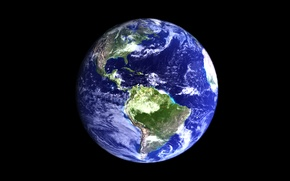 Picture space, surface, planet, Earth, continents, oceans