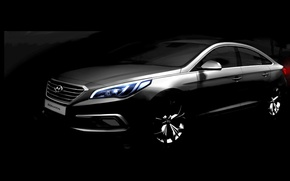 Picture Hyundai, teaser, Hyundai, Sonata, Sonata