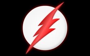 Picture red, logo, lightning, comics, Black Flash