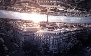 Picture Paris, Inception, based on the movie