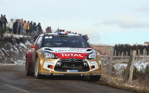 Picture Winter, Auto, Road, Sport, Machine, People, Turn, Race, Citroen, The hood, Citroen, DS3, WRC, Rally, …