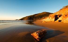 Wallpaper sea, nature, the sky, shore, hills