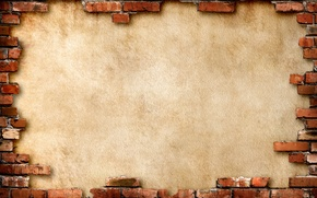 Wallpaper background, wall, brick, brown