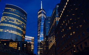 Picture light, New York, skyscrapers, window, architecture, New York