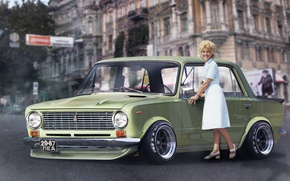Picture girl, house, tuning, tuning, gtr, Lada, 2101, VAZ, Vaz, by DiMANLY, Odessa, gtr2101, dimanly