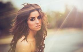 Picture Girl, Beautiful, Model, Sun, View, Amber