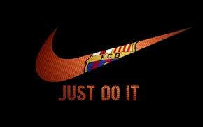 Wallpaper Football, Nike, Football, FC Barcelona, FC Barcelona, Nike, Just do it
