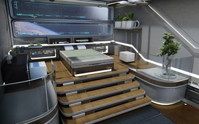 Picture concept, bedroom, Star Citizen, starship, Constellation