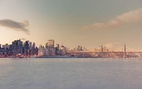 Picture USA, United States, New York, Manhattan, New York City, Skyline, America, Queensboro Bridge, United States ...