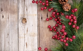 Picture tree, Board, branch, New Year, Christmas, decoration, bumps, pine, Holly, Holly