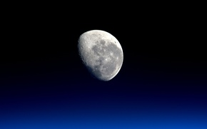Picture surface, background, the moon, satellite