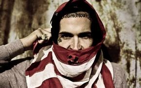 Picture stripes, hip-hop, tattoo, american, rap, rapper, flag, artist, Shady, Yelawolf, slumerican