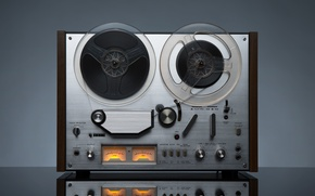 Picture retro, music, player, tape, hi-tech, bokeh, wallpaper., technology, reel, option, katushenka, reel