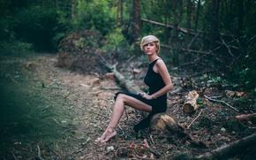 Picture forest, girl, girl, legs, woman, Olga Valikova, Olga Vastikova