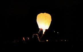 Picture light, night, air flashlight