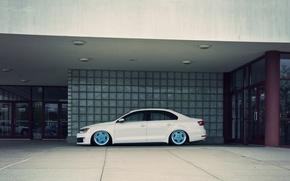 Picture Volkswagen, Jetta, white, side, MK6, GLI