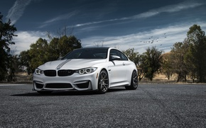 Picture car, white, vorsteiner, BMW M4