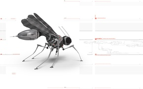 Wallpaper I do not know, robot, the mosquito
