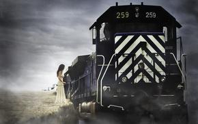 Picture life, Train, suicide, death, fine art