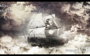 Picture the sky, ship, sky, the, photoshop, ships, denisoff