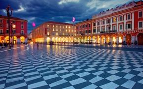 Picture France, building, area, France, Nice, Nice, Place Massena, Place Massena