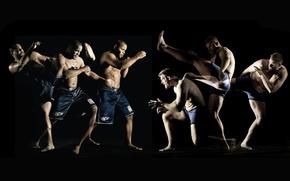 Wallpaper movement, blow, fighters, mma, fighters, strikeforce, josh barnett, mixed martial arts, daniel cormier