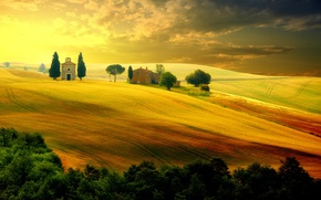 Picture field, the sky, landscape, nature, Italy