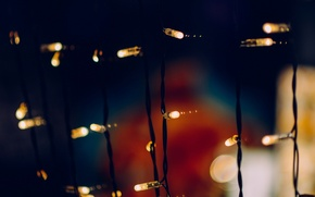 Picture light, background, holiday, Wallpaper, new year, blur, wallpaper, decoration, garland, light bulb, widescreen, background, full …