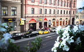 Picture machine, street, Peter, Saint Petersburg, Russia, porshe, Russia, SPb, St. Petersburg, spb
