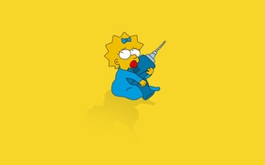 Wallpaper the simpsons, simpsons, Maggie, maggie