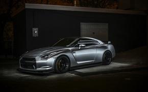 Picture GTR, Nissan, sports car, black, Nissan