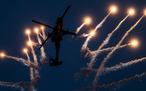 Wallpaper helicopter, show, AH-64, weapons