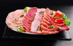 Picture sausage, cutting, ham, meat products
