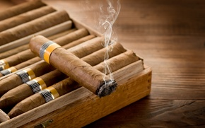 Picture snuff, smoke, wood, cigars