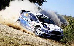 Picture Ford, Dust, Skid, WRC, Rally, Rally, Fiesta, Poland, There Miss
