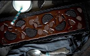 Picture food, chocolate, milk, cookies, pie, cakes, sweet
