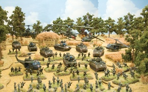 Picture Tropic Lightning, the game, vietnam war, game., art, table, series, the war, tactical, games, table, ...