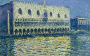 Picture picture, Italy, Venice, the urban landscape, Claude Monet, The Doge's Palace