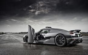 Picture rain, Koenigsegg, supercar, Agera, track, koenigseg
