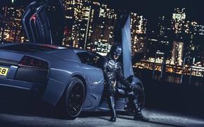Picture Lamborghini, Batman, Batmobile, Murcielago, Gray, LP640, CHESTER NG