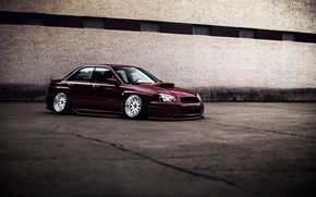 Picture Subaru, Impreza, WRX, Red, STI, JDM, Wheels, frontside