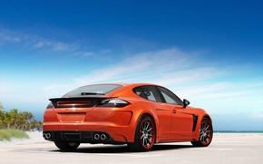 Wallpaper the sky, orange, tuning, Porsche, Panamera, GTR, Orange, Porsche, tuning, Panamera, Stingray, Ball Wed