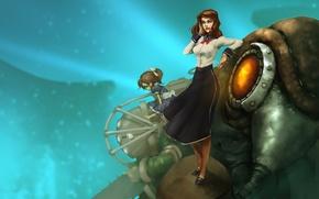 Picture Little Sister, DLC, Elizabeth, BioShock Infinite, Songbird, Burial at Sea