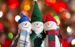 Picture holiday, toys, Snowmen