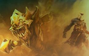 Picture teeth, clones, Dota 2, DotA, Azwraith, Phantom Lancer, Sand King