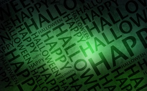 Picture letters, holiday, Halloween, happy, halloween, words, green background, all saints day, 31 Oct