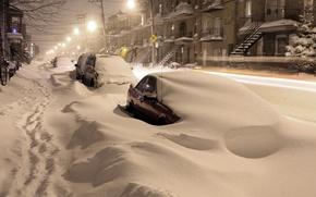 Picture snow, machine, night