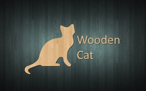 Picture style, wood, cat, wooden style, wooden cat